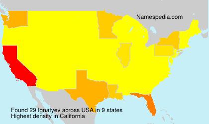Surname Ignatyev in USA