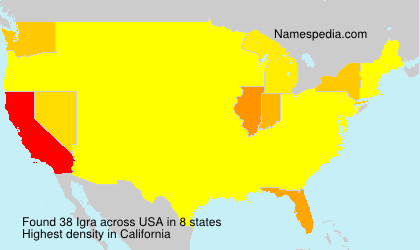 Surname Igra in USA