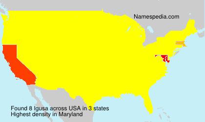 Surname Igusa in USA