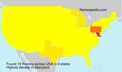 Surname Iheoma in USA