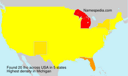 Surname Iho in USA