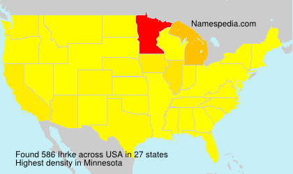 Surname Ihrke in USA