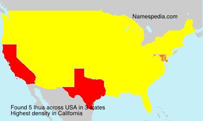 Familiennamen Ihua - USA