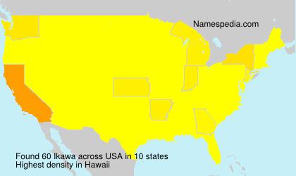 Surname Ikawa in USA