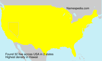 Surname Ilae in USA