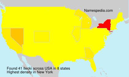 Familiennamen Ilecki - USA