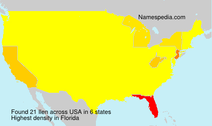 Surname Ilen in USA