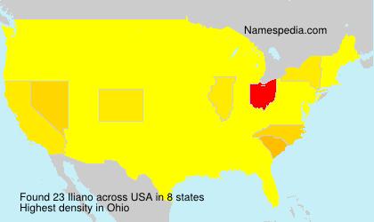 Surname Iliano in USA
