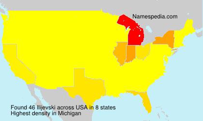 Surname Ilijevski in USA