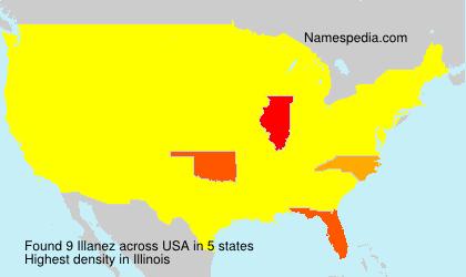 Surname Illanez in USA