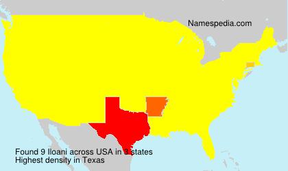 Familiennamen Iloani - USA