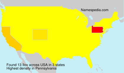 Surname Ilov in USA