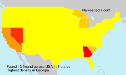 Surname Imand in USA