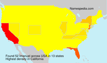 Surname Imanuel in USA