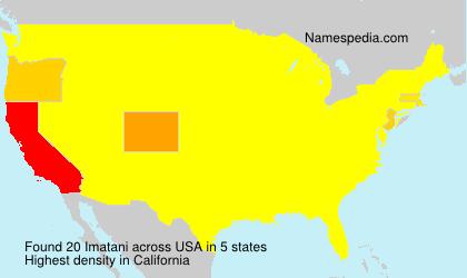 Surname Imatani in USA