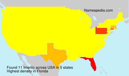 Surname Imerito in USA