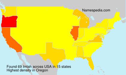 Familiennamen Imlah - USA