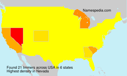 Surname Immers in USA