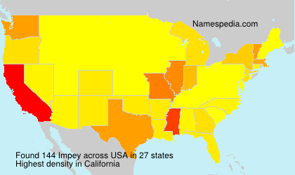 Surname Impey in USA