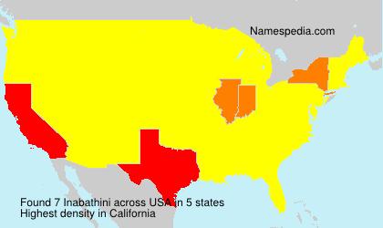 Familiennamen Inabathini - USA