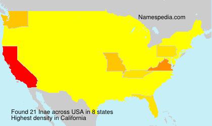Familiennamen Inae - USA