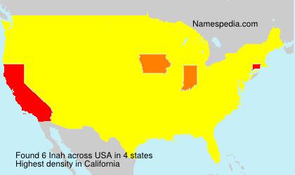 Familiennamen Inah - USA