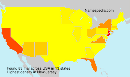 Familiennamen Inal - USA