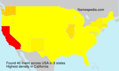 Familiennamen Inami - USA