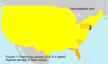 Familiennamen Inamorato - USA