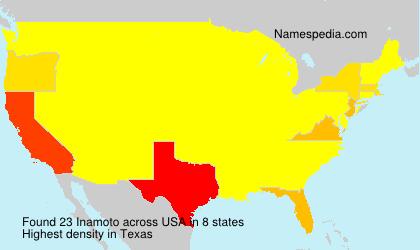 Familiennamen Inamoto - USA