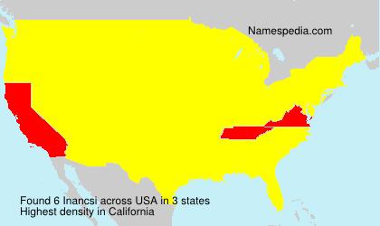 Familiennamen Inancsi - USA