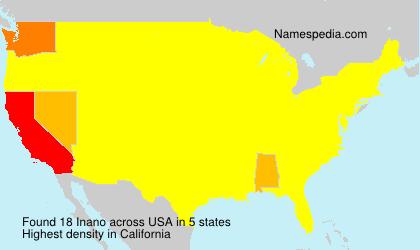 Familiennamen Inano - USA