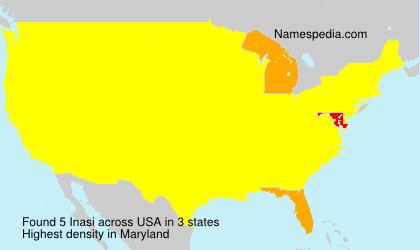 Familiennamen Inasi - USA