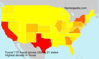 Familiennamen Inayat - USA