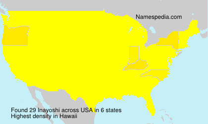 Familiennamen Inayoshi - USA