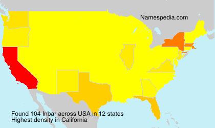 Familiennamen Inbar - USA