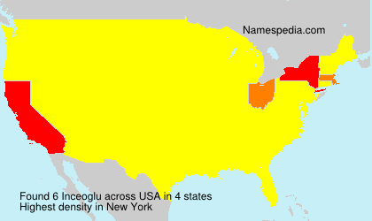 Surname Inceoglu in USA