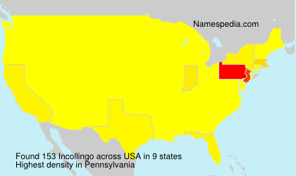 Surname Incollingo in USA