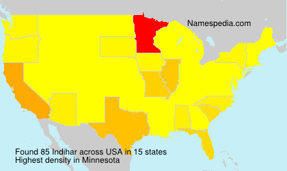 Surname Indihar in USA