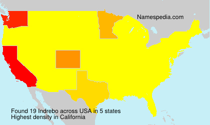 Surname Indrebo in USA