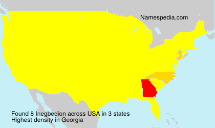 Surname Inegbedion in USA