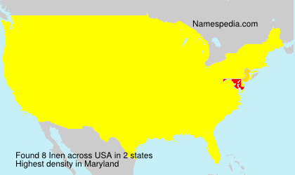 Surname Inen in USA