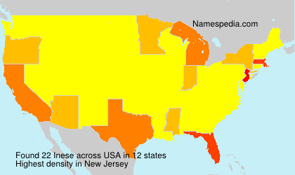 Surname Inese in USA
