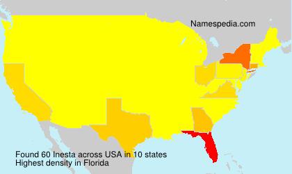 Surname Inesta in USA