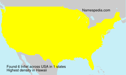 Surname Infiel in USA