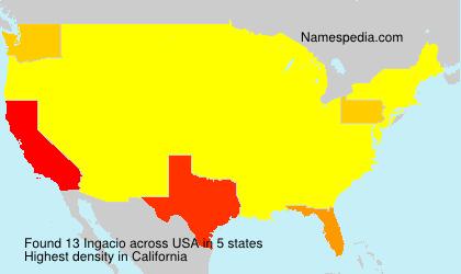 Surname Ingacio in USA