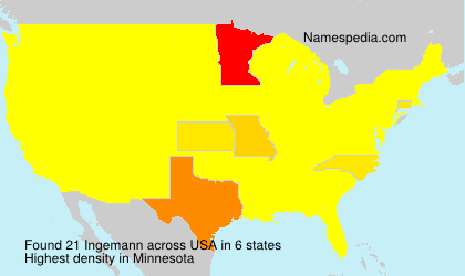 Surname Ingemann in USA