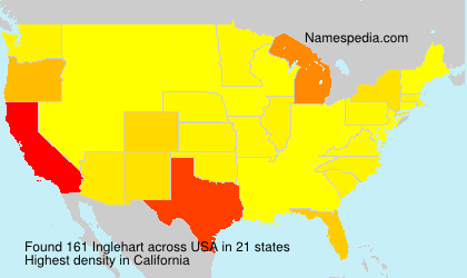 Surname Inglehart in USA