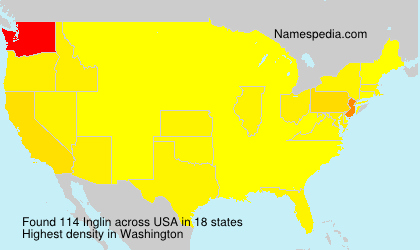 Surname Inglin in USA