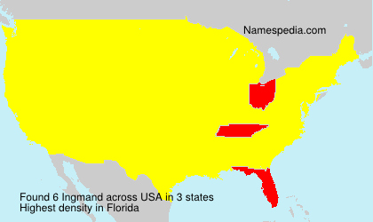 Surname Ingmand in USA